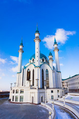 Qolsharif Mosque in Kazan Kremlin. Tatarstan, Russia