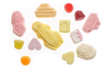 Several colorful sweets Sinterklaas