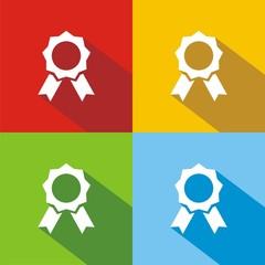 Icono premio colores sombra