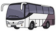 Hand drawing of a touristic bus - 80991004