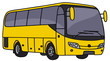 Hand drawing of a yellow bus - 80991005