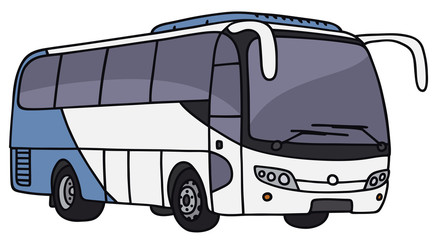 Hand drawing of a touristic bus