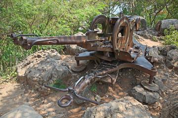 Anti Aircraft Gun - Luang Prabang - Laos