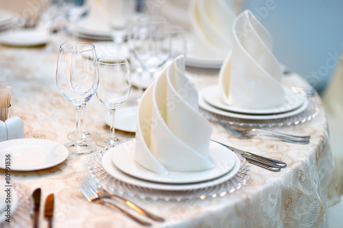 Table set for event party - 80991836