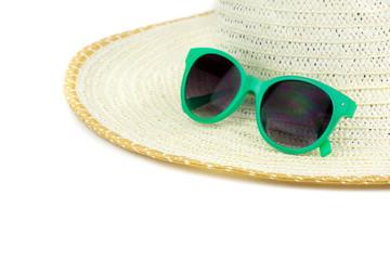 Beach hat and sun glasses