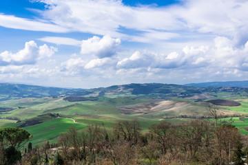 イタリア トスカーナの田園風景