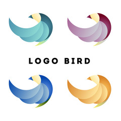 Logo Bird Circle Four