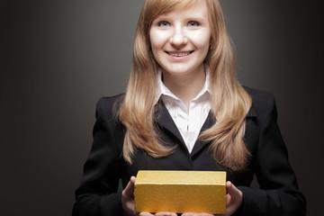 Young business woman portrait