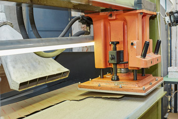 Semi-automatic press for producing insoles