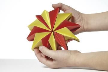 Origami Blume aus Papier