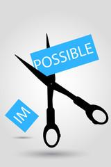 Scissor - Illustration for Impossible