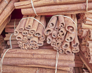 cinnamon rolls closeup, spicy background