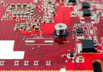 Electronic collection - Electronic components on the PCB