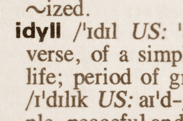 Dictionary definition of word idyll