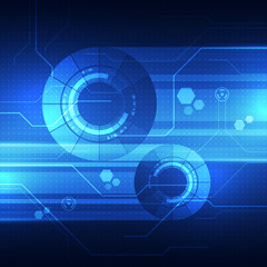 Abstract vector background. Futuristic technology style.