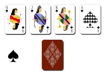 playing cards  peaks