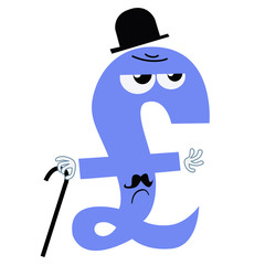 character national currency pound sterling UK England gentleman