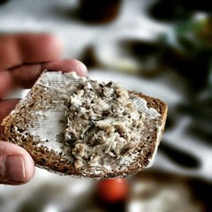 Sardines breakfast.