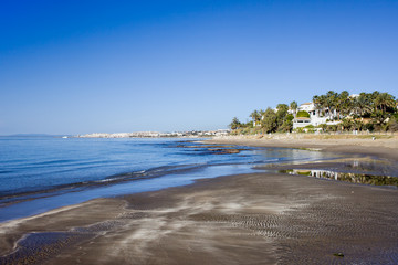Marbella Beach on Costa del Sol in Spain