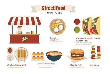 street food infographic  flat design