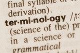 Dictionary definition of word terminology poster