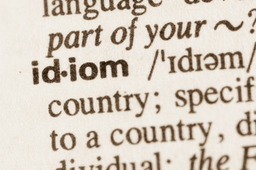 Dictionary definition of word idiom
