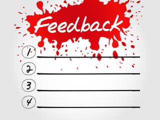 Feedback blank list, business concept