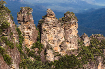 The Three Sisters in the Blue Mountains Sydney Australia in summ