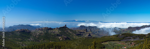 Leinwandbild Motiv Gran Canaria, view From the highest point of the island, Pico de