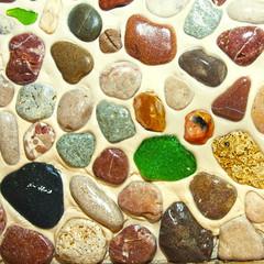 Seamless pattern of stones