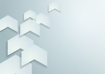 White Paper Arrows Vector Background