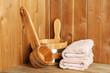 Natural accessories in sauna
