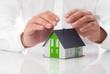 Schutz Einfamilienhaus Konzept