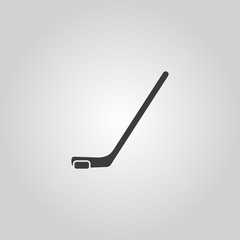 Hockey icon. Game symbol. Flat