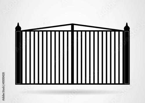 Gate icon illustration. Vector EPS10. - 81010428