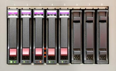 Hard disk maintenance alert close up