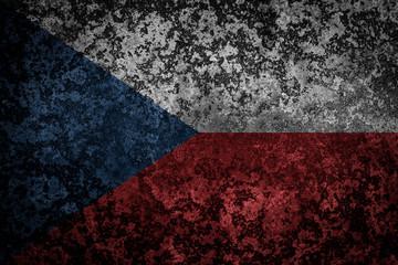 Flag of the Czech Republic. Grungy textured Czech flag.