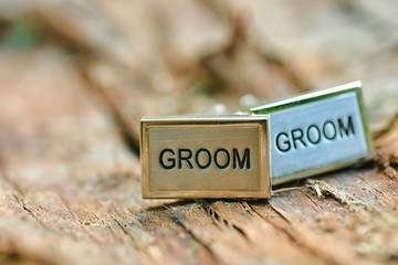 Engraved wedding cufflinks