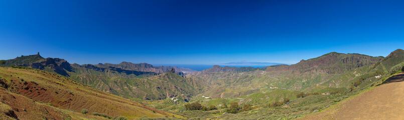 Gran Canaria, view across Caldera de Tejeda