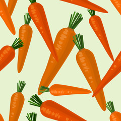 Seamless colorful background with carrot