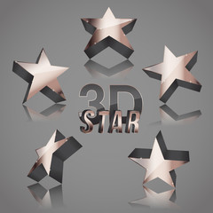 3d copper dark star set
