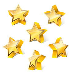 3d little golden star set with variations