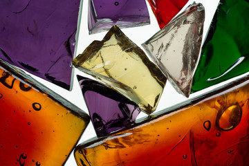 decorative glass shards