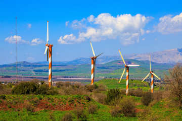 The Golan heights and some windmills