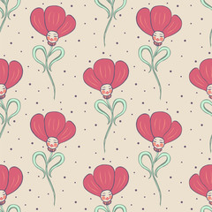 beige spring or summer seamless pattern