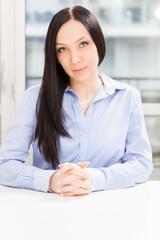 Portrait of brunette business woman