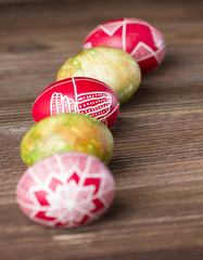 Decorated Easter eggs. Shallow depth of field