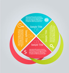 Infographics template for business, education, web design