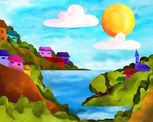 isole con case colorate