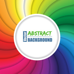 Swirling rainbow background with place for text